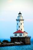 Chicago Harbor Lighthouse, Lake Michigan