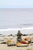 7 Stones arranged, Spanish Bay, 17 Mile Drive, Monterey, California
