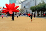 Breathing Flower, created by Korean artist Choi Jeong Hwa, Civic Center, San Francisco