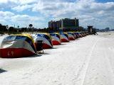 Rows of shade, Beach, Tampa