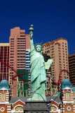 Lady Liberty faces at NY NY, Las Vegas, NV