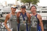Lauren Groves Sarah Kortuem Sara McLarty Long Beach Triathlon