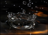 Water dripping in our kitchen sink! (macro 100mm and two external flashes)