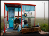 Mickey Maher in Unst busstop!!!