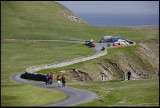 The road up to Sumburgh Head
