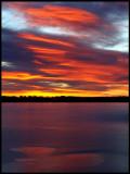 Southern lake Bergunda at dawn - one of the lakes close to Växjö