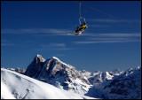 Ski lift in Dolomite Alps / Italy