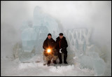 In Ranua Ice-cave together with Jan