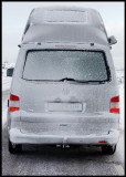 My VW California after driving in snowdrift