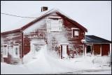 Snowy house near Krampenes