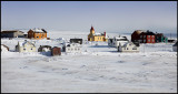 Skallelv village and church