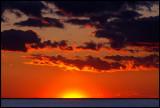 Sunset seen from Ottenby stenar