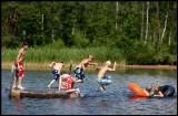 Having fun at Stojby (north Växjö)