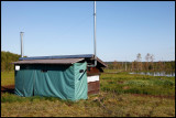 Luxuary photo-hide by the little lake - includes both toilet and winterheating !!