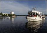 Tourboat returning to Savonlinna harbour - Finland
