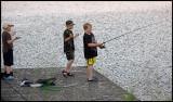 Fishing in rain - Finland