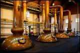 Glenmorangie copper pot stills - highest in the world....