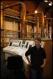 Martin taking part of the distillation.....