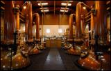 The impressing copper pot stills at Glenmorangie