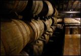 Glenmorangie warehouse with lots of barrels