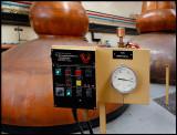 Monitoring temperature inside the copper stills at Glenfarclas