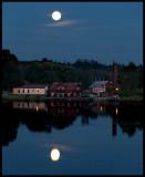 Dusk with full moon over Hook south of Jönköping
