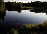 Evening fishing near Bor