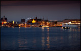 Coming in to Gothenburg late evening with ferry from Denmark