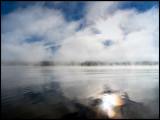 Early morning mist in Lake Toftasjön