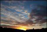 Evening sky near Kalmar