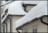 All time high snow at the roofs of Hudiksvall