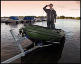 Captain Martin in his boat