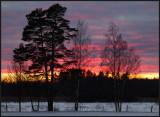 Dusk at Lidhem south of Växjö