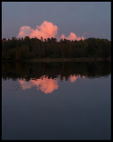 Late evening clouds over Lake Asa (asasjön)