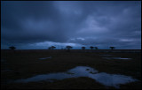 Late evening at Ottenby with heavy rainclouds