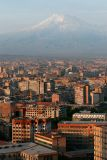 Capital city Yerevan and Mt  Ararat