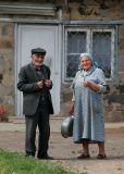 Old couple living in Yeghegnadzor