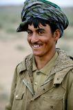 Afghan shepard living on Iranian side of border