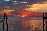 Lake Pontchartrain sunset pier   002
