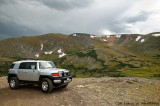 FJ at the Top of Rocky Mountain Park