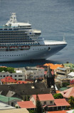 14 1205 Cruise ship dwarfs the buildings of the city