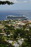 14 1206 Cruise ship docked at Roseau