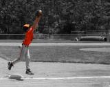 Joseph playing baseball