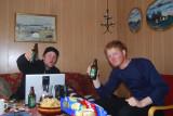 Aron Andersson och Hampus Lejon festar te de