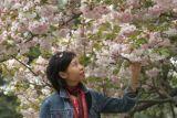 Joyce near Cherry Blossom
