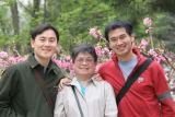 Hy, Mum and Khanh near Cherry Blossom