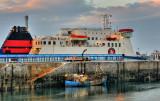 Ben My Chree at berth in Douglas harbour