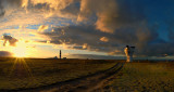 Sunset at the Point of Ayre