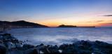 Peel Castle at sunset