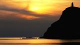 Sunset over Milners Tower, Bradda Head
